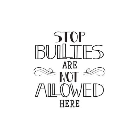 Stop bullies are not allowed here. Conceptual vector illustration. Social problems of humanity.