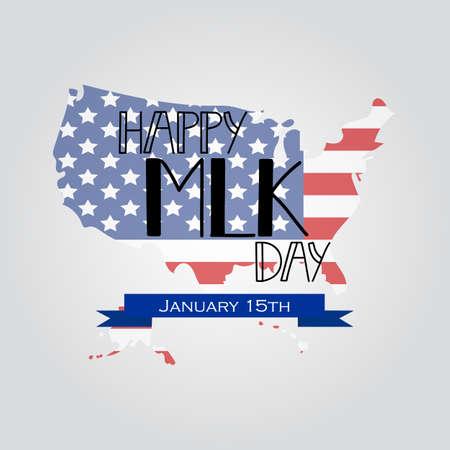 Happy Martin Luther King Tag Gruß Schriftzug. Flyer, Banner oder Poster. Urlaub Hintergrund Vektor-Illustration