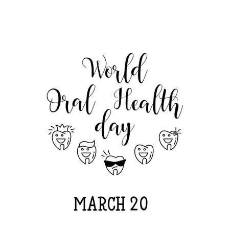 World Oral Health day. Vector hand drawn illustration.