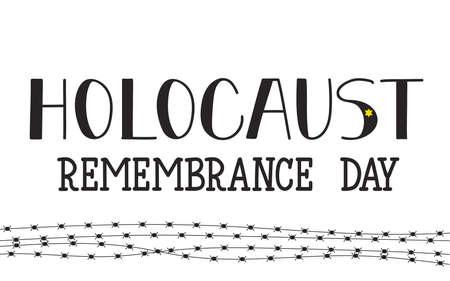 Remembrance Day. January 27. Vector illustration Ilustracja