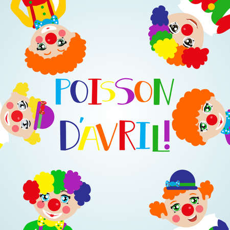 Poisson davril lettering, April fools day. Translated from french, April fools day vector illustration. Design element for poster, greeting card or printable wall art.