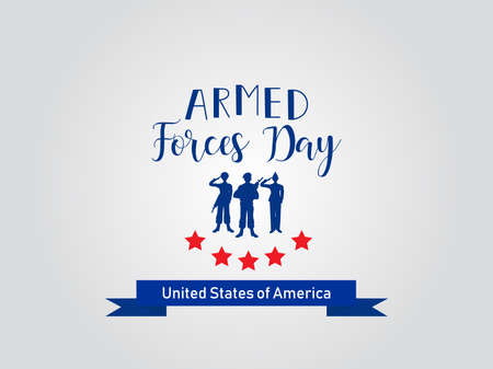 Armed forces day in USA holiday design vector illustration