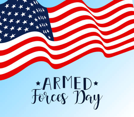 Armed forces day with flag design vector illustration