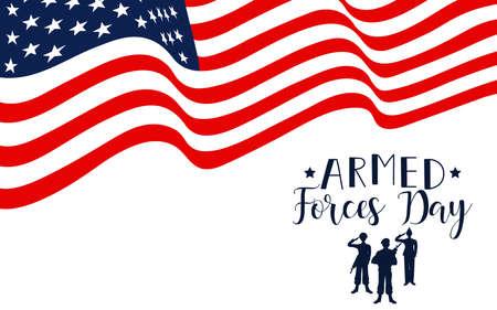 Armed forces day in USA holiday design vector illustration Vektoros illusztráció