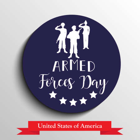 Armed forces day in USA holiday design vector illustration.