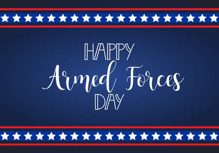 Armed forces day american holiday design vector illustration