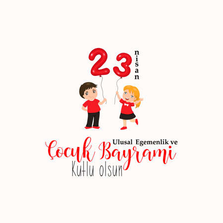 Vector illustration of the cocuk baryrami 23 nisan. Translation: Turkish April 23 National Sovereignty and Childrens Day