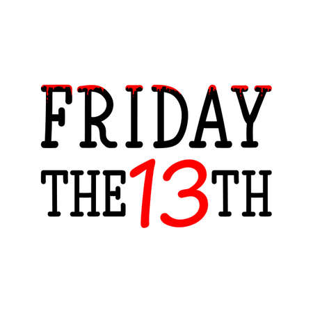 Friday the 13th. Lettering. Can be used for prints bags, t-shirts, posters, cards Illustration