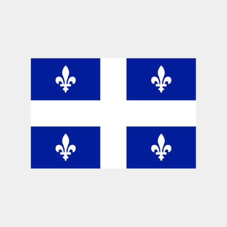 Flag of Quebec Province or territory of Canada. Vector illustration.  イラスト・ベクター素材