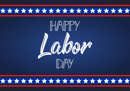 Happy Labor Day card. american holiday design vector illustration Ilustrace