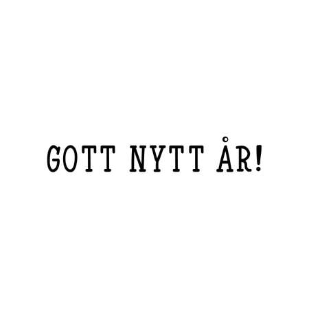 Swedish text: Happy New Year. Lettering. vector illustration. element for flyers, banner and posters Modern calligraphy. Gott nytt år!