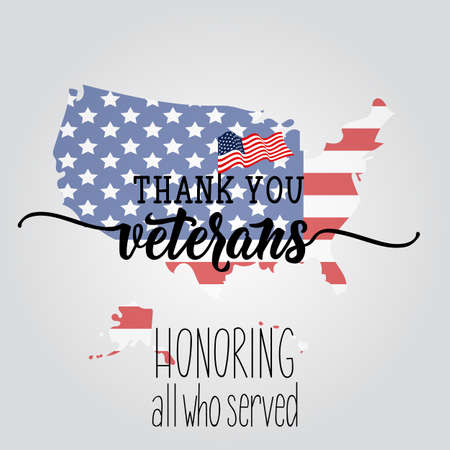 Thank you veterans. Honoring all who served. United state of America, U.S.A veterans day design.