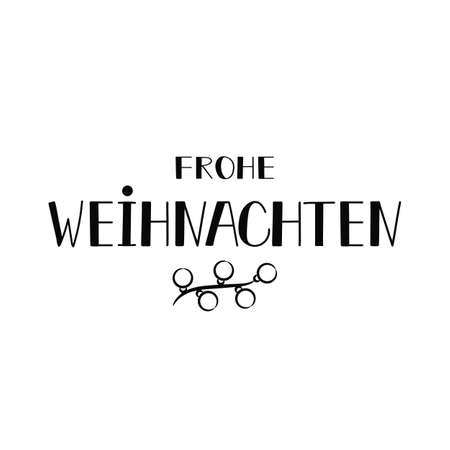 German text: Merry Christmas. Lettering. vector illustration. element for flyers, banner and posters Modern calligraphy. Frohe Weihnachten.