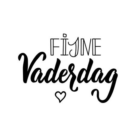 Dutch text: Happy Fathers Day. Lettering. vector illustration. element for flyers, banner and posters Modern calligraphy. Vaderdag