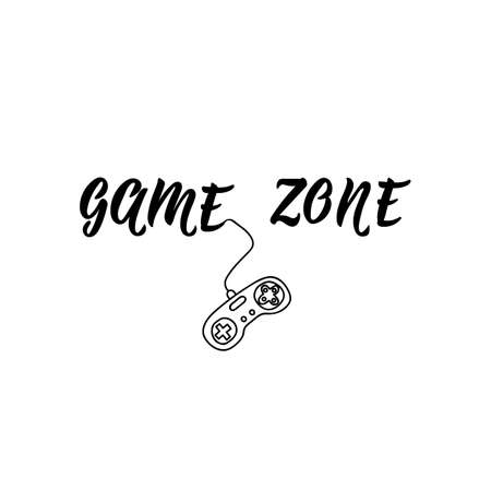 Game zone. Vector illustration. Perfect design for greeting cards, posters T-shirts banners print invitations. Standard-Bild - 132369857