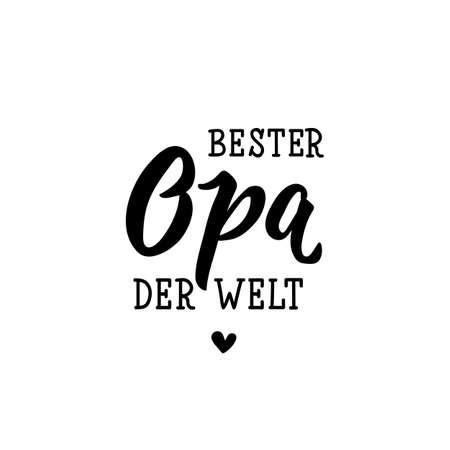 Texte allemand : Le meilleur grand-père du monde. Caractères. illustration vectorielle. élément pour flyers, bannières et affiches Calligraphie moderne.