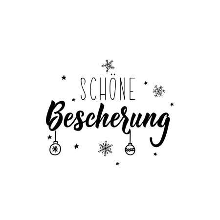 German text: Merry Christmas. Lettering. Banner. calligraphy vector illustration. Standard-Bild - 137235367