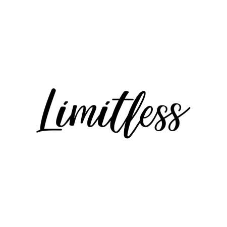 Limitless. Lettering. Can be used for prints bags, t-shirts, posters, cards. Calligraphy vector Ink illustration Banque d'images - 151198288
