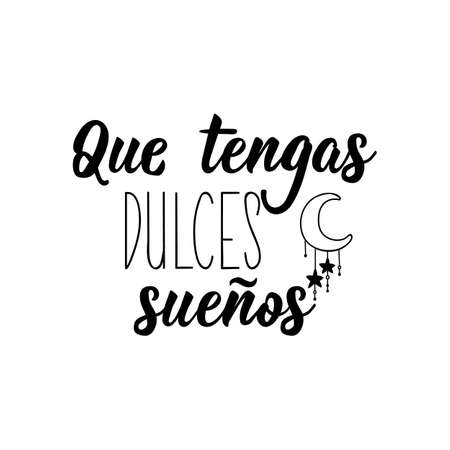 Lettering. Translation from Spanish - Have sweet dreams. Element for flyers, banner and posters. Modern calligraphy Ilustracja