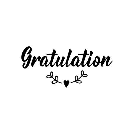 German text: Congratulations. Lettering. Vector illustration. Element for flyers banner and posters Modern calligraphy.