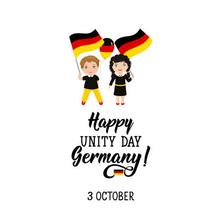 Germany Unity Day greeting card. Happy Unity Day Germany, October 3.