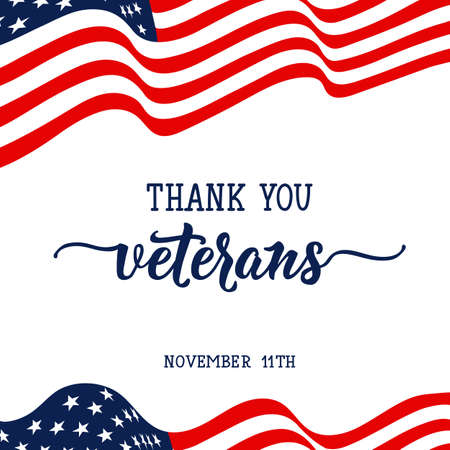 Thank you veterans. November 11th, United state of America, USA veterans day design.