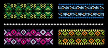 Ethic abstract colorful pattern design
