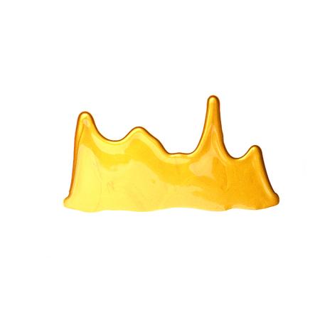 Liquid golden texture isolate on white Stock Photo