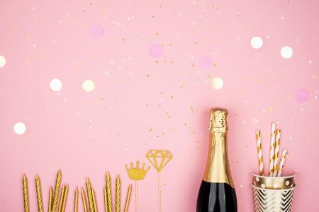 Champagne confetti sparkles candles universal  celebration, celebration, party, birthday.