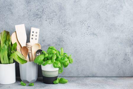Simple minimalist kitchen shelf.