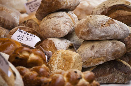 Fresh baked tasty bread on a store Stock Photo - 13212688
