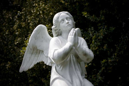 Old cemetery angel sculpture made of stone Stock Photo - 13270715