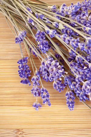 Lavender dried leaves on a wooden desk Stock Photo - 13568212