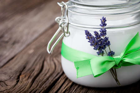 coconut: Handmade DIY natural body butter with lavender and coconut oil, almond oil and shea butter