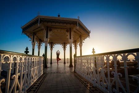 Yoga session in beautiful place - Brighton, England photo