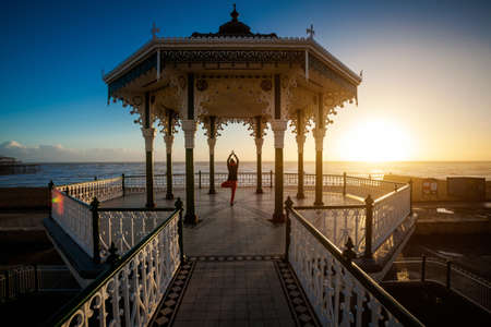 Yoga session in beautiful place - Brighton, England