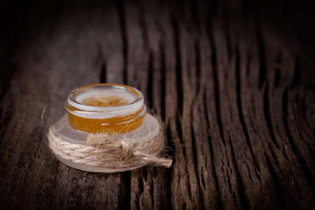 Handmade DIY natural sugar lip scrub with honey and coconut oil