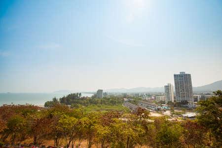 hua hin: Summer landscape on tropical Hua Hin in Thailand. Landscape taken from Khao Takiab monkey temple.