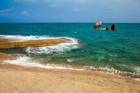 'koh samui': Summer seascape on tropical island Koh Samui in Thailand. Landscape of south east Asia. Stock Photo