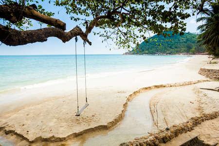 Summer seascape on tropical island Koh Phangan in Thailand. Bottle Beach. photo