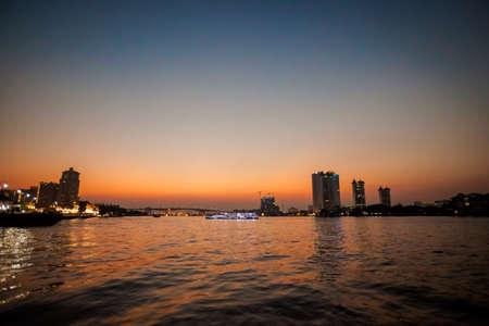 chao phraya: Beautiful view on Bangkok Menam river - Chao Phraya