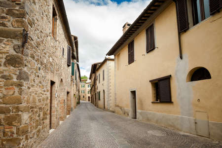 montalcino: Beautiful little streets in Montalcino, Italy. Stock Photo