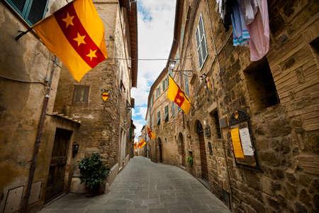 montalcino: Beautiful little streets in Montalcino, Italy. Editorial