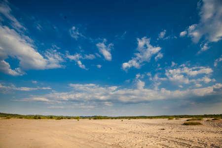 upland: Polish beautiful desert in Jura Krakowsko Czestochowska, Poland. view of cracow - czestochowa upland with sand Stock Photo