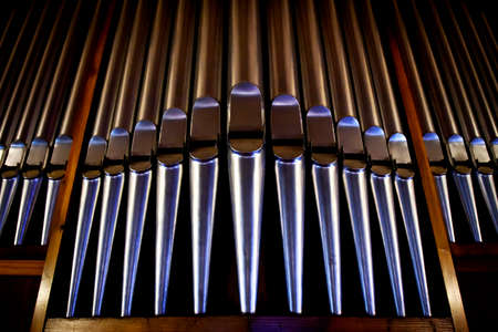 Christelijke detaill - orgel in de kerk Stockfoto