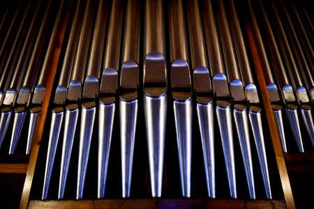 Christian detaill - organo in chiesa Archivio Fotografico - 68789876