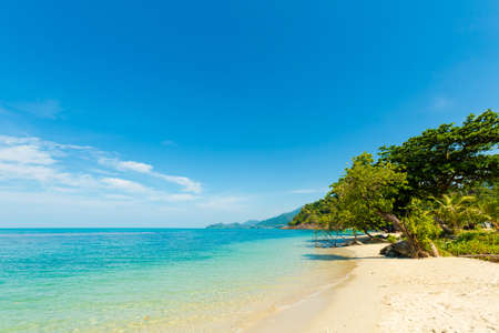Summer landscape on tropical koh Chang island  in Thailand. Landscape taken on Kai Bae beach.
