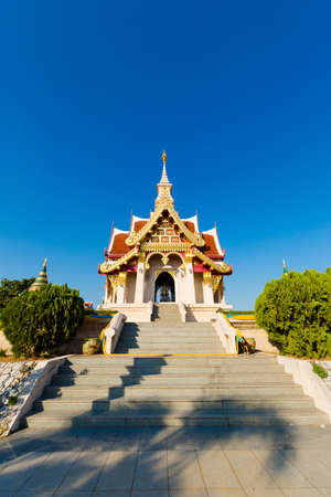 Beautiful buddhist City Pillar Shrine temple in Udon Thani in northern Thailand. Cityscape with beautiful religion architecture in south east Asia.
