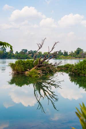 Mekhong river taken on Don Det island in south Laos