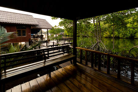 Touristic resort on tropical Koh Kood island in Thailand. Local accommodation taken on Klong Chao area. Stock Photo